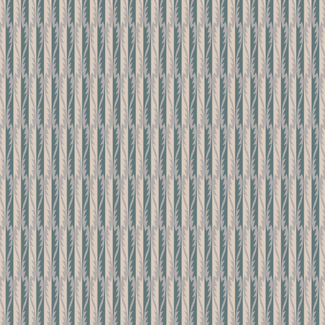 Gypsy Leaf Stripe slate-2 fabric by modernprintcraft on Spoonflower - custom fabric