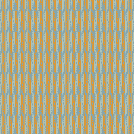 Gypsy Leaf Stripe slate fabric by modernprintcraft on Spoonflower - custom fabric