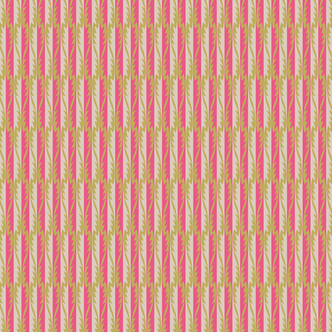 Gypsy Leaf Stripe coral fabric by modernprintcraft on Spoonflower - custom fabric