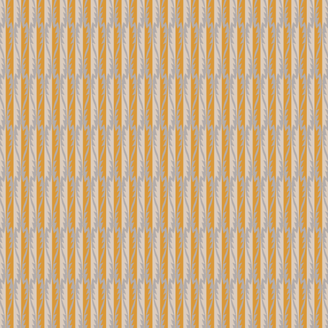 Gypsy Leaf Stripe golden fabric by modernprintcraft on Spoonflower - custom fabric