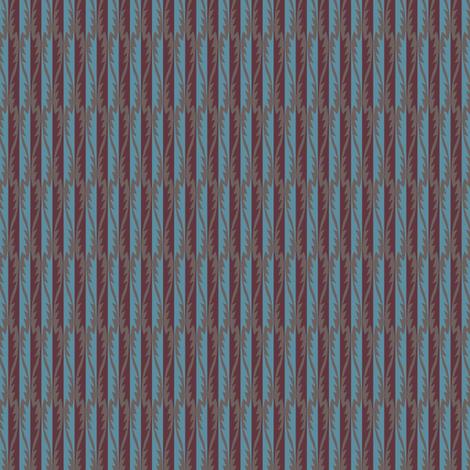 Gypsy Leaf Stripe plum fabric by modernprintcraft on Spoonflower - custom fabric