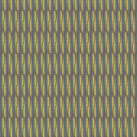 Gypsy Leaf Stripe muted fabric by modernprintcraft on Spoonflower - custom fabric