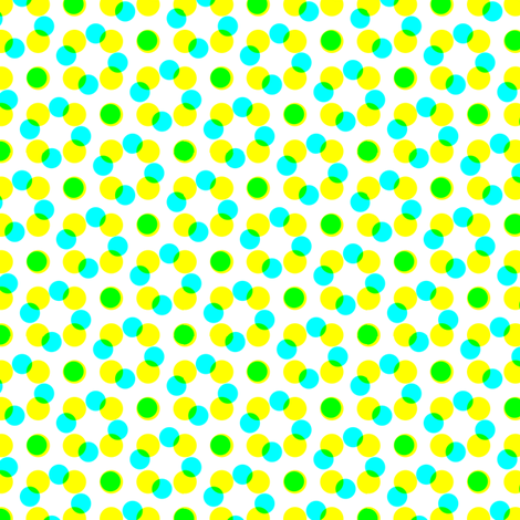CMYK halftone dots - apple green fabric by weavingmajor on Spoonflower - custom fabric