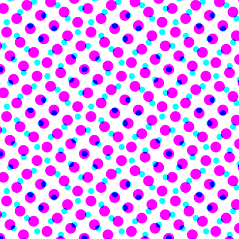CMYK halftone dots - lavender fabric by weavingmajor on Spoonflower - custom fabric