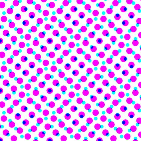 CMYK halftone dots - lavender fabric by weavingmajor on Spoonflower - custom fabric