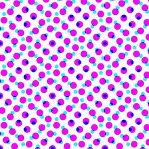 CMYK halftone dots - lavender
