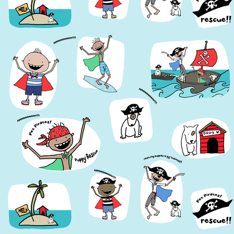 My Pirate Hero! fabric by pattyryboltdesigns on Spoonflower - custom fabric