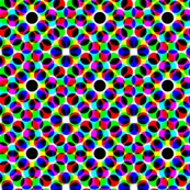 CMYK halftone dots - grey