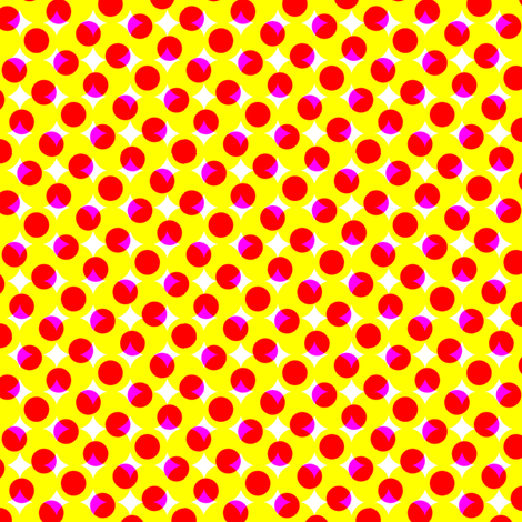 CMYK halftone dots - yellow-orange fabric by weavingmajor on Spoonflower - custom fabric