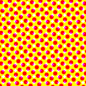 CMYK halftone dots - yellow-orange