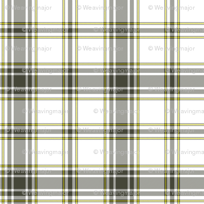 hikers' plaid tiny - khaki and yellow