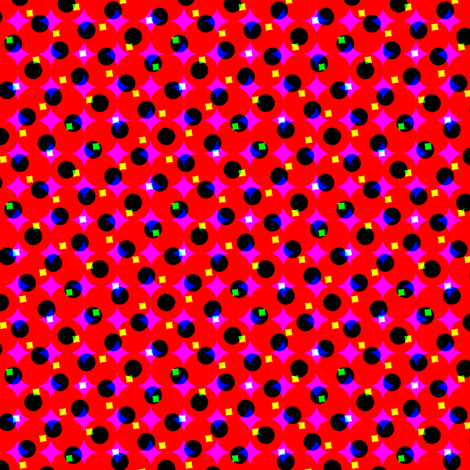 CMYK halftone dots - dark red fabric by weavingmajor on Spoonflower - custom fabric