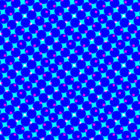 CMYK halftone dots - blue fabric by weavingmajor on Spoonflower - custom fabric