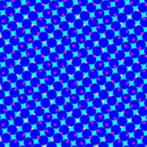CMYK halftone dots - blue