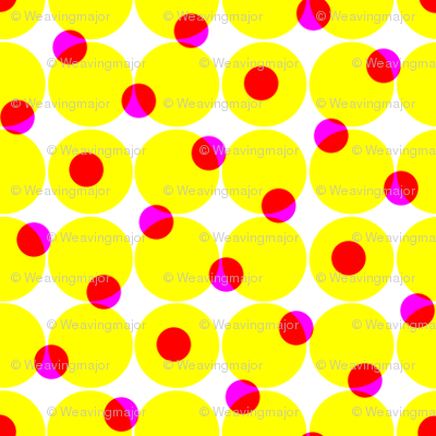 CMYK halftone dots - yellow
