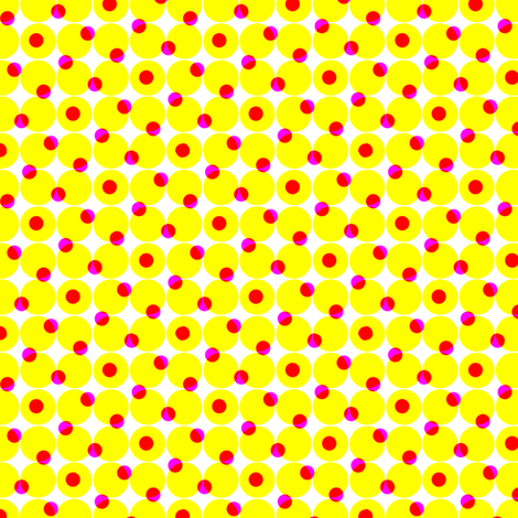 CMYK halftone dots - yellow fabric by weavingmajor on Spoonflower - custom fabric
