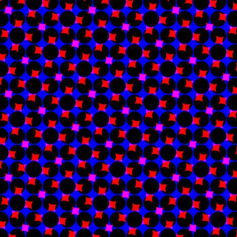 CMYK halftone dots - dark violet