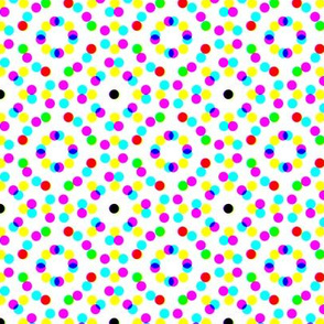 CMYK halftone dots-pale grey