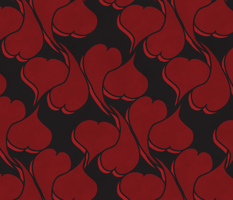 hearts suite fabric by open-shop on Spoonflower - custom fabric