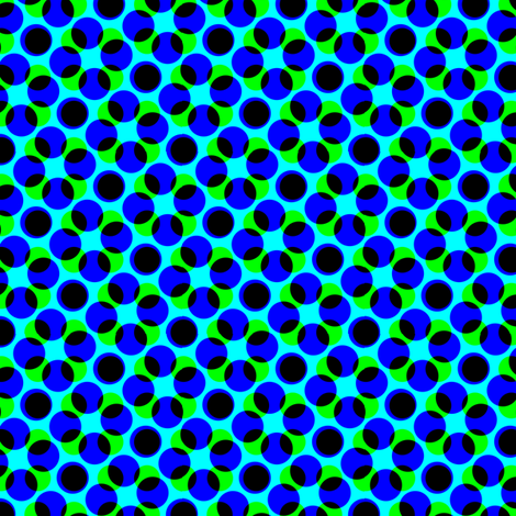 CMYK halftone dots - navy fabric by weavingmajor on Spoonflower - custom fabric