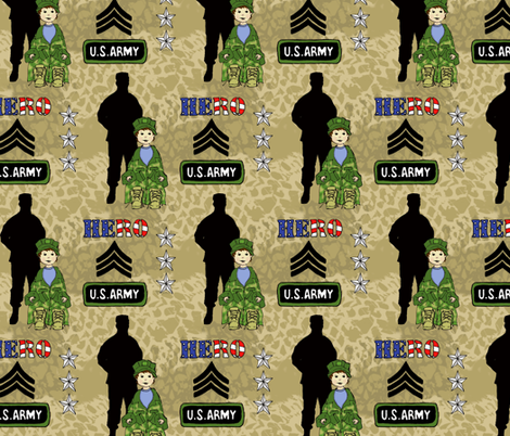 Just like my HERO! fabric by holly_helgeson on Spoonflower - custom fabric