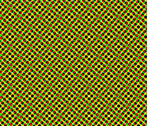 CMYK halftone dots - khaki fabric by weavingmajor on Spoonflower - custom fabric