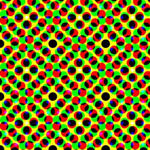 CMYK halftone dots - khaki