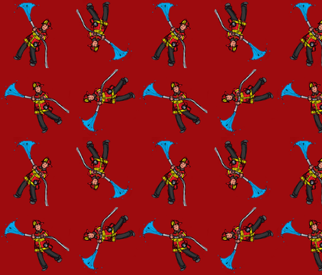 Fireman_spoonflower fabric by worldwidedeb on Spoonflower - custom fabric