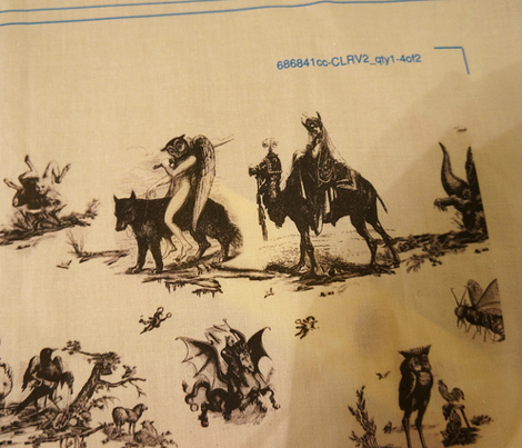 Demonology toile red background