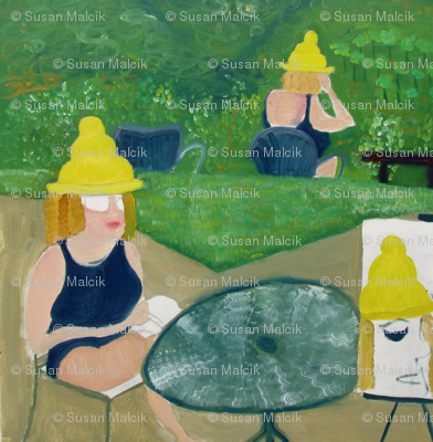 Woman with Safe-sex Hat - variation 2