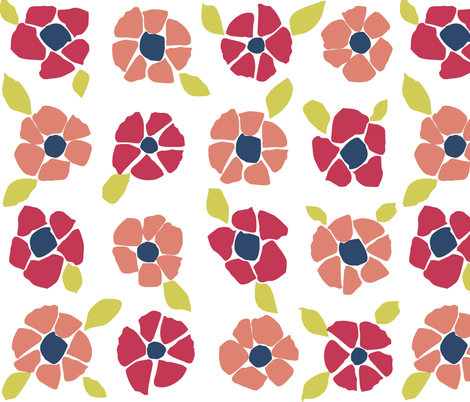 Floral Matisse fabric by smuk on Spoonflower - custom fabric