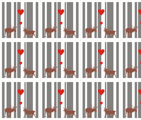 Reindeer Love Napkin Set fabric by smuk on Spoonflower - custom fabric