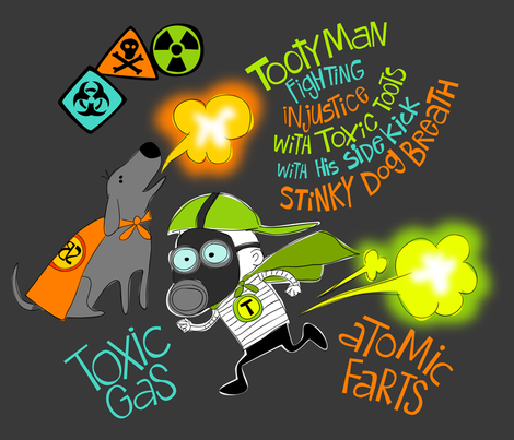 Tootyman Toxic Gas fabric by bzbdesigner on Spoonflower - custom fabric