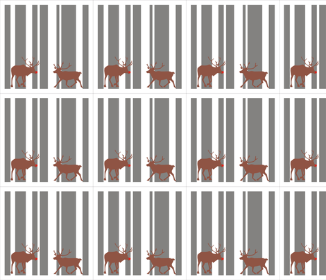 Reindeer Christmas Napkin Set fabric by smuk on Spoonflower - custom fabric