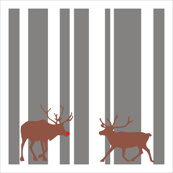 Reindeer Christmas Napkin Set