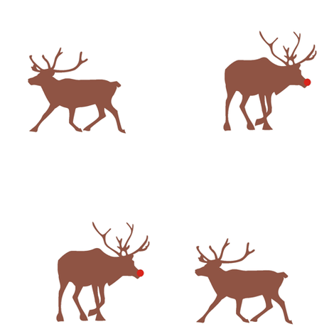 Reindeer Love fabric by smuk on Spoonflower - custom fabric