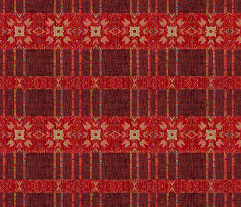 Ikat Weave Color Threads fabric by wren_leyland on Spoonflower - custom fabric