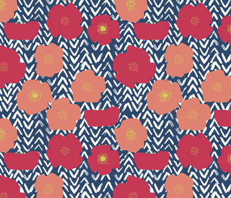 poppymatissesmaller fabric by Simoen on Spoonflower - custom fabric