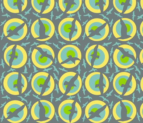 seagulls fabric by karinka on Spoonflower - custom fabric