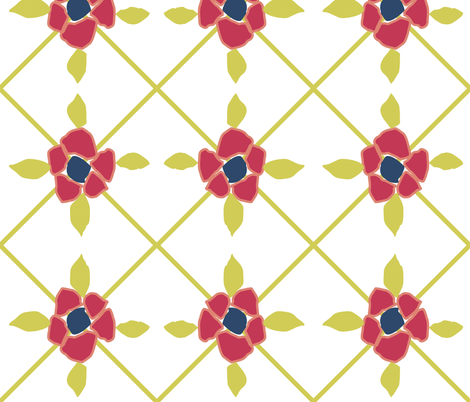 Floral Matisse Diamonds fabric by smuk on Spoonflower - custom fabric