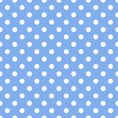 It's a boy blue, polka dots fabric by su_g on Spoonflower - custom fabric