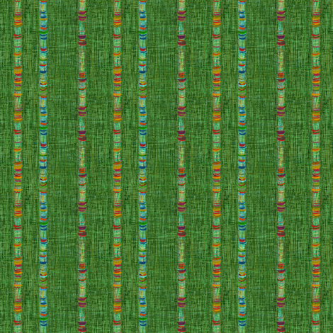 Threaded Cord Green Weave fabric by wren_leyland on Spoonflower - custom fabric