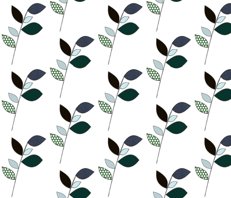 leafonlyblank fabric by fluture on Spoonflower - custom fabric