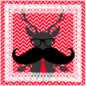 stag head geek festive napkins