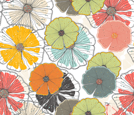 By the streams   FBTS12102601 fabric by njeridesigns on Spoonflower - custom fabric