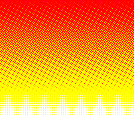 CMYK halftone gradient - red/yellow/white