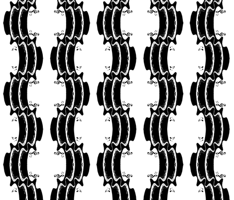 Sound Waves fabric by whimzwhirled on Spoonflower - custom fabric