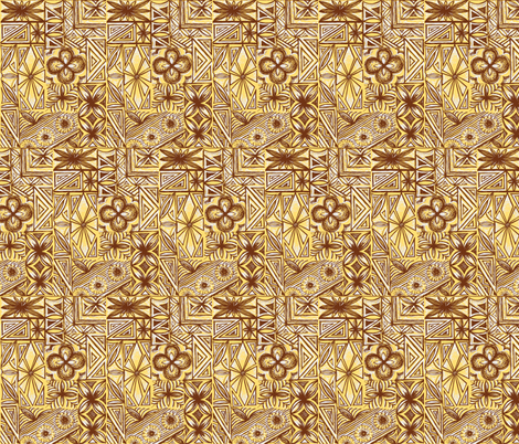 Kalakaua Ave  in Macadamia Nut fabric by sophista-tiki on Spoonflower - custom fabric