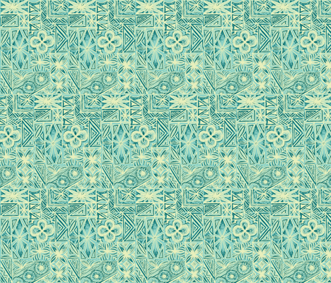 Kalakaua Ave  in Frothy Surf fabric by sophista-tiki on Spoonflower - custom fabric