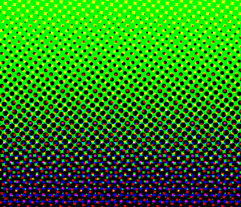 CMYK halftone gradient - purple/green/white fabric by weavingmajor on Spoonflower - custom fabric